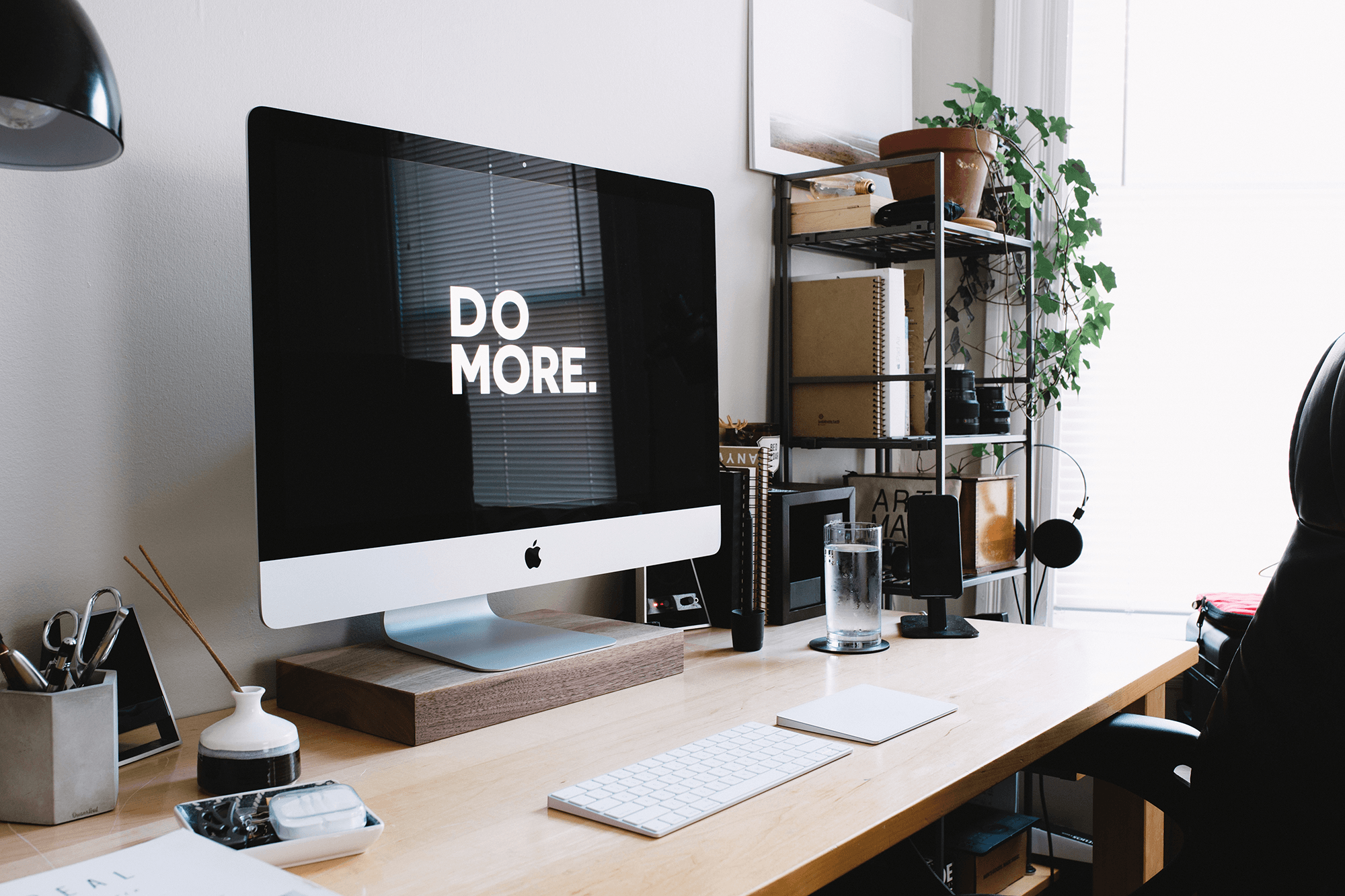 desktop with 'do more' on the screen - introduction to how support staff can make you more productive